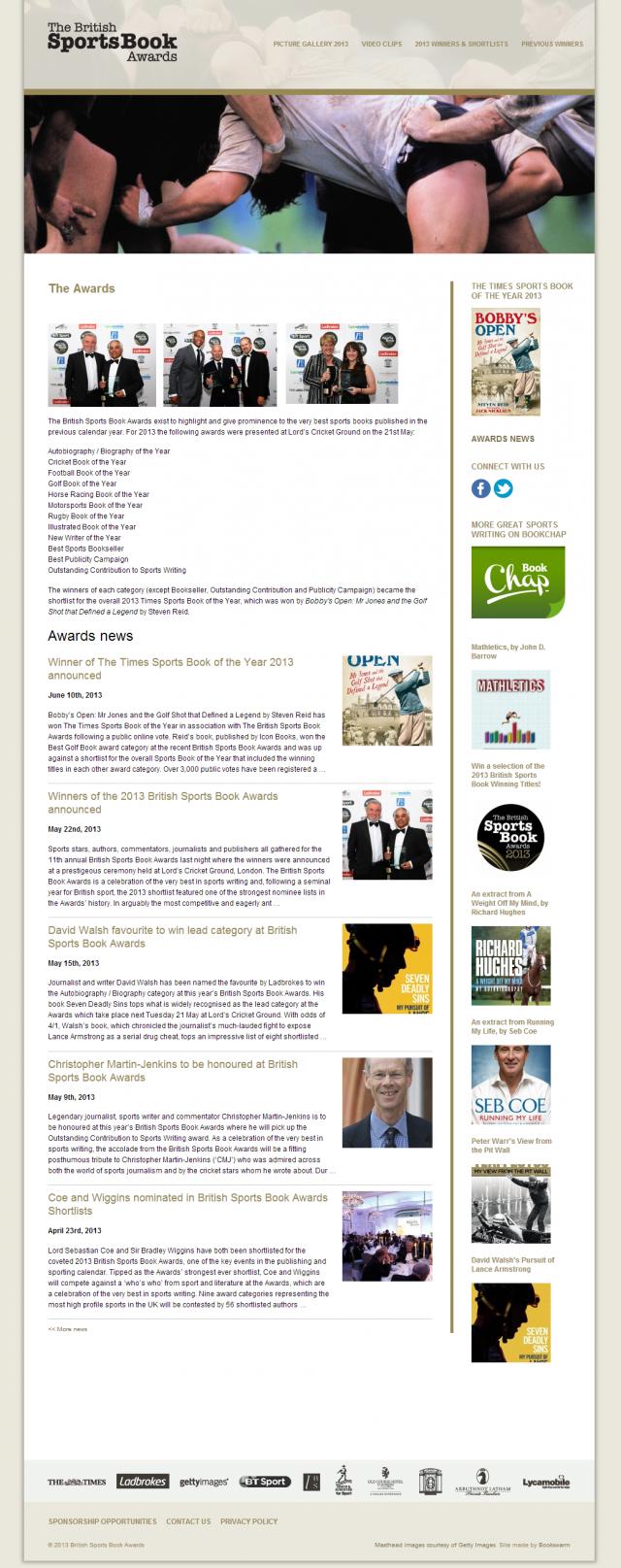 British Sports Book Awards 2013