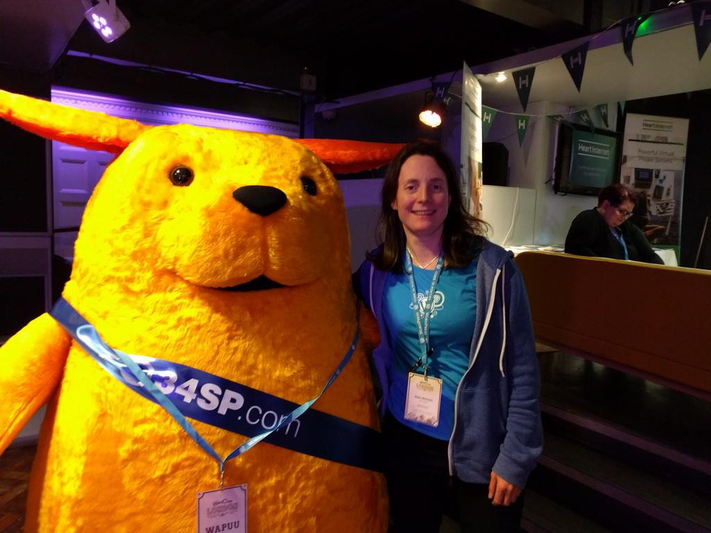 34SP brought along their own Wapuu mascot!